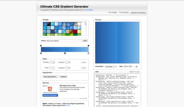 Colorzilla.com/gradient-editor/