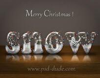 snow-christmas-photoshop-text