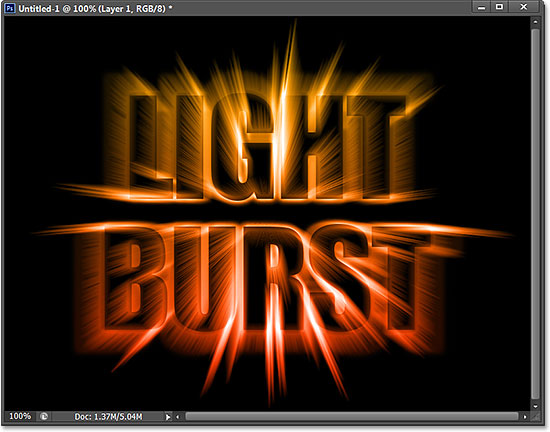 light-burst-text-effect-cs6