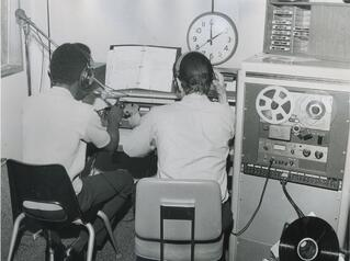 Early 1980 Radio Students in studio.jpeg
