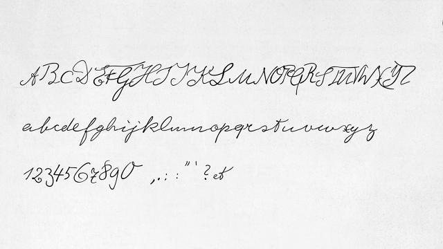 einstein_font_sample